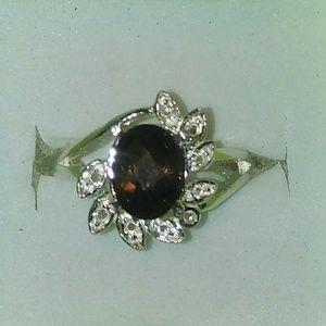 189f08f4282d17 Jewelry - Natural Smoky Quartz & Diamonds 925SS Ring
